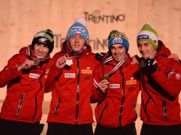 polska drużyna skoczków narciarskich_brązowy medal w val di fiemme